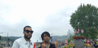 "French Montana & Swae Lee Perform Live ""Unforgettable"" At Niagara Falls"