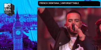 French Montana Swae Lee Perform Unforgettable at the MTV EMA Awards
