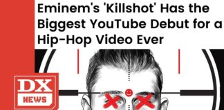 Eminem's Killshot Breaks Record For Biggest YouTube Debut for a Hip Hop Video Ever